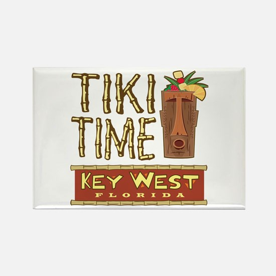 Key West Tiki Time - Rectangle Magnet