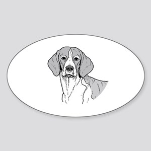 Beagle Oval Sticker