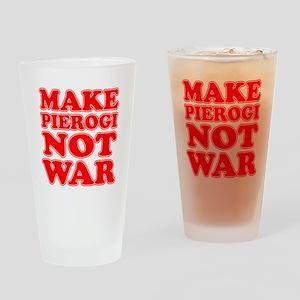 Make Pierogi Not War Apron Drinking Glass