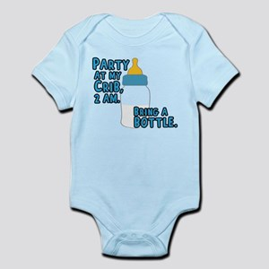 Party At My Crib Baby Light Bodysuit