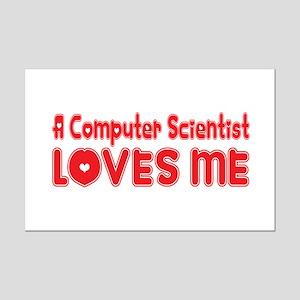 A Computer Scientist Loves Me Mini Poster Print