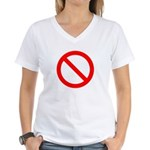No Women's V-Neck T-Shirt