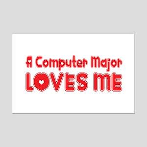 A Computer Major Loves Me Mini Poster Print