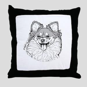 Pomeranian Throw Pillow