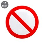 "No 3.5"" Button (10 pack)"
