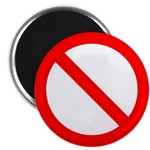 "No 2.25"" Magnet (100 pack)"