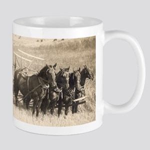 Henry and Barney, harvesting Mug