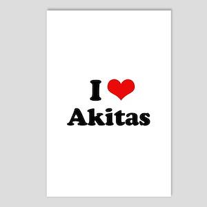 I love Akitas Postcards (Package of 8)