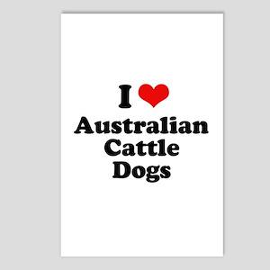 I Love Australian Cattle Dogs Postcards (Package o