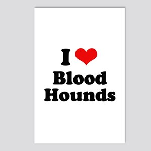 I Love Blood Hounds Postcards (Package of 8)