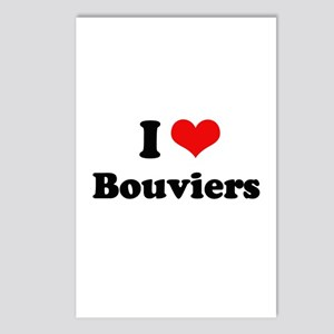 I Love Bouviers Postcards (Package of 8)