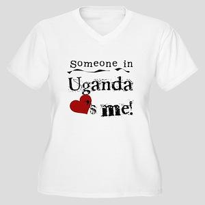 Uganda Loves Me Women's Plus Size V-Neck T-Shirt