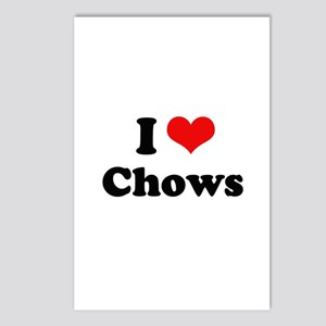 I Love Chows Postcards (Package of 8)
