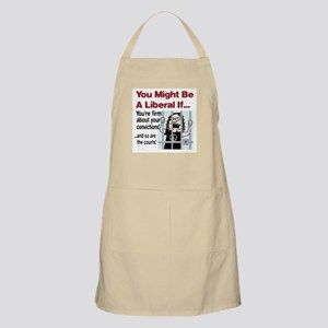 You're firm about your convictions! BBQ Apron