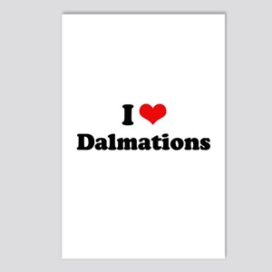I Love Dalmations Postcards (Package of 8)