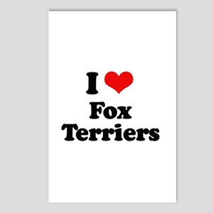 I Love Fox Terriers Postcards (Package of 8)