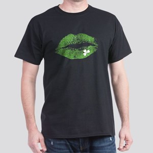 Green Lips & White Irish Shamrock T-Shirt