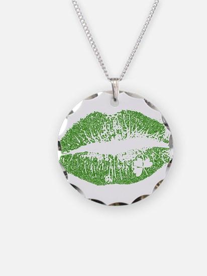Green Lips & White Irish Sha Necklace