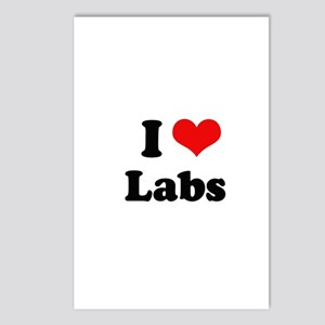 I Love Labs Postcards (Package of 8)
