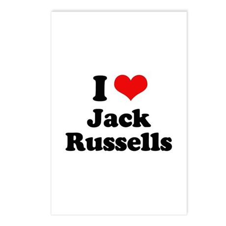 I Love Jack Russells Postcards (Package of 8)