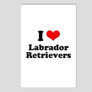 I Love Labrador Retrievers Postcards (Package of 8