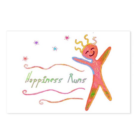 Happiness Runs Postcards (Package of 8)
