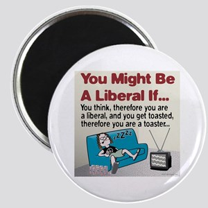 Liberals think and get toasted Magnet