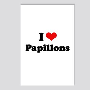 I Love Papillons Postcards (Package of 8)