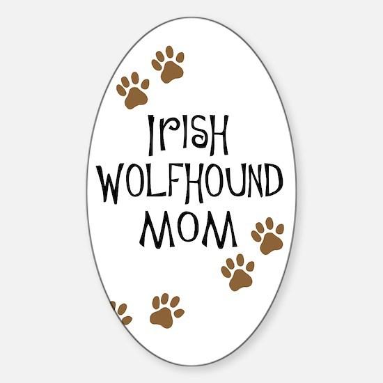 Irish Wolfhound Mom Oval Decal
