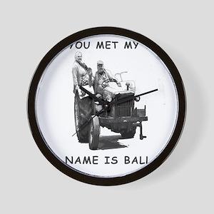 Wife as ballast Wall Clock