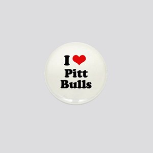 I Love Pitt Bulls Mini Button
