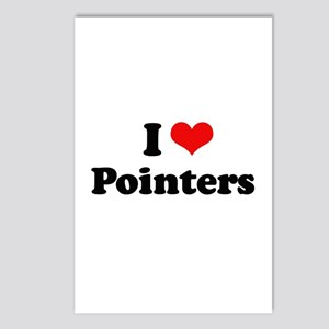 I Love Pointers Postcards (Package of 8)