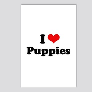 I Love Puppies Postcards (Package of 8)
