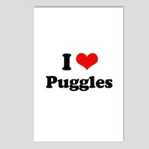I Love Puggles Postcards (Package of 8)