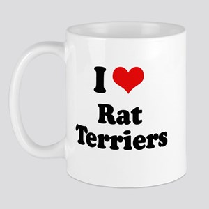 I Love Rat Terriers Mug