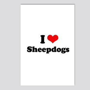 I Love Sheepdogs Postcards (Package of 8)