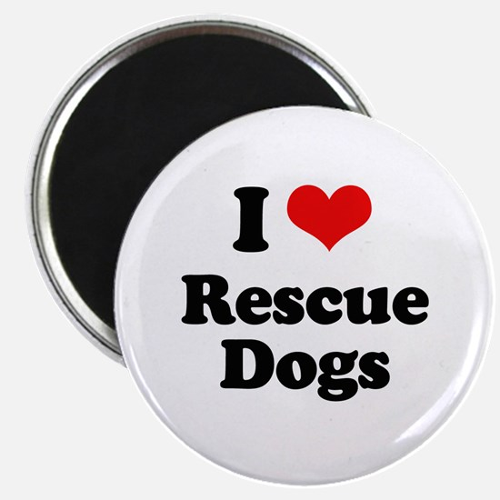 "I Love Rescue Dogs 2.25"" Magnet (10 pack)"