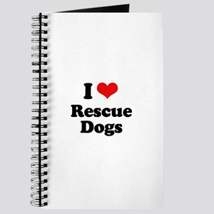 I Love Rescue Dogs Journal