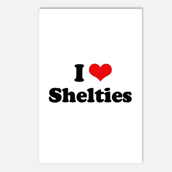 I Love Shelties Postcards (Package of 8)