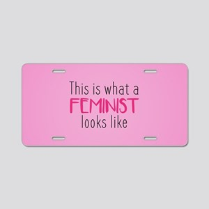 This Is What A Feminist Loo Aluminum License Plate