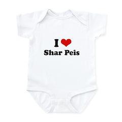 I Love Sharpeis Infant Bodysuit