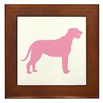 Pink Irish Wolfhound Framed Tile
