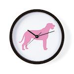 Pink Irish Wolfhound Wall Clock