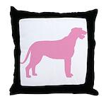 Pink Irish Wolfhound Throw Pillow