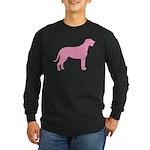 Pink Irish Wolfhound Long Sleeve Dark T-Shirt