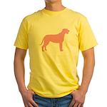 Pink Irish Wolfhound Yellow T-Shirt