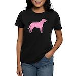 Pink Irish Wolfhound Women's Dark T-Shirt