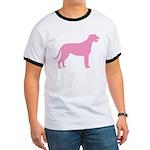 Pink Irish Wolfhound Ringer T