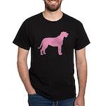 Pink Irish Wolfhound Dark T-Shirt