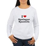 I Love Springer Spaniels Women's Long Sleeve T-Shi